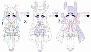 Pastel adoptable girls CLOSED by AS-Adoptables