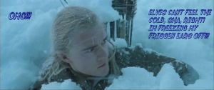 Legolas in the Snow by xXxLegolas9RikuxXx