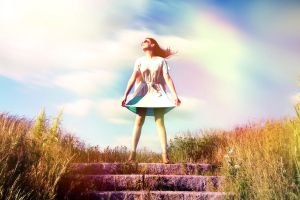 Retro Fantasy. Flying with the Sky by Hewnly