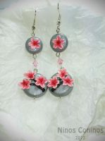Cherry blossom earrings by NinosConinos