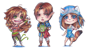 Traditional Chibi Stickers by Ritusss
