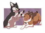 Zwei and Charlie by mirzers