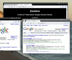 Google Chrome - ZOMBRE theme by Manhog
