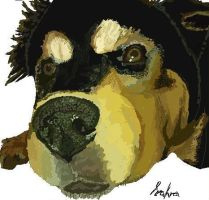 Puppy Darla on MS paint by SahraJane
