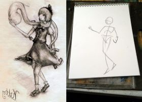 Fantasy Life Drawing Lesson 001 Stick figuring by SpiritedFool