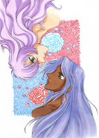 Utena and Anthy by BUBBLE89