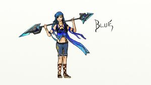 RWBY: Azure 'Blue' - Character Concept (RAVE) by jipooki