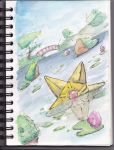 Staryu watercolor sketch by user-name-not-found