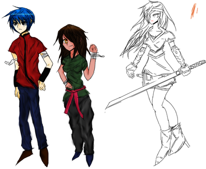 Rosbi, Papiro and General Molly(in Progress) by TioSnow649