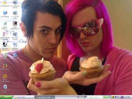 Davey, Jeffree, and Muffins by ivyascending