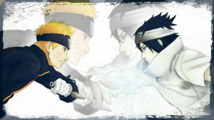Naruto the last. Sasuke vs Naruto by Miluto17