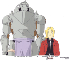 Ed and Alphonse Elric Drawing2 by andys184