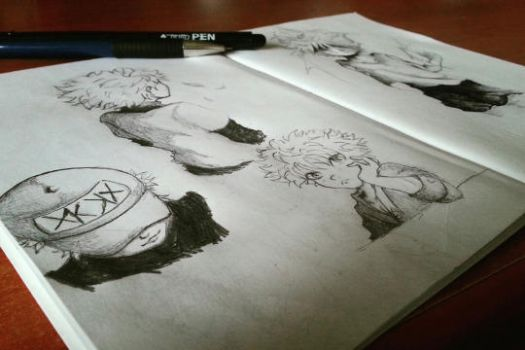 Killua Sketches by LaPetiteTriforce