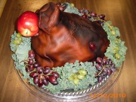 boar's head cake pic 2 by toastles