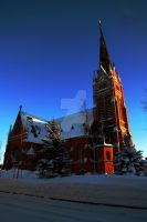 Church in the Winter by Dark-Ange1