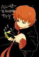 Sasori playing a game by Sasori0091