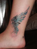 Wing tattoo by steelteamstudio