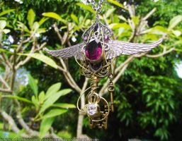 Night Elf Imperial Key- World of Warcraft pendant by Hidden-Treasury