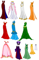 SSMU Long Dresses by SailorMoonParadise
