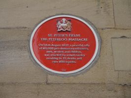Peterloo Plaque by Party9999999