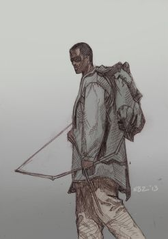 Book of Eli Pencil Sketch by NelsonBlakeII