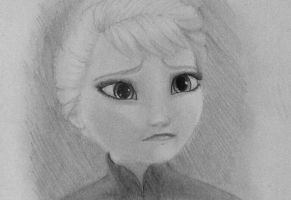 Frozen:Elsa- hand drawn by Colorpaletpony
