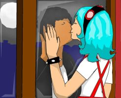 manny and frida kiss by t-lider