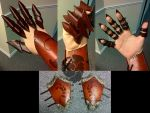 Leather Gauntlets by Lulabell-creations