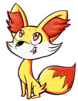 Derp the Fennekin by Andi1990
