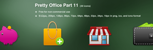Pretty Office Icon Set Part 11 by customicondesign