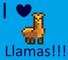 I love llamas by LoveBug98