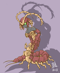 Centipede girl by Reh0