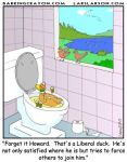 Liberal Duck cartoon by Conservatoons