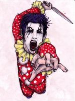 Havok the Clown. Killer clown by Anarchpeace