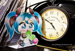 Miku baby (chibi) paper child by Marryhime94