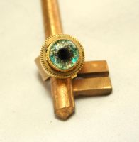 Steampunk Hidden Compartment Evil Eye Ring by byrdldy