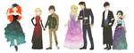 Big Four: Yule Ball by bente36