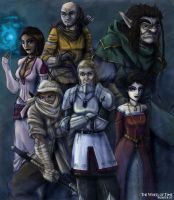 Wheel of Time heroes by LaughingOrc