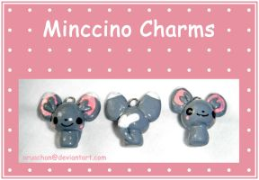 Minccino Charms by aruachan