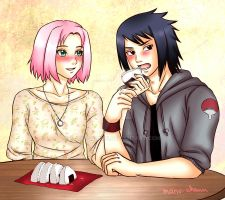Commission: Sasusaku date by manu-chann