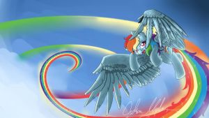 Double rainboom wallpaper by nerow94