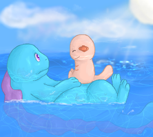 Quagsire and Wooper by Chocolate-Pikachu