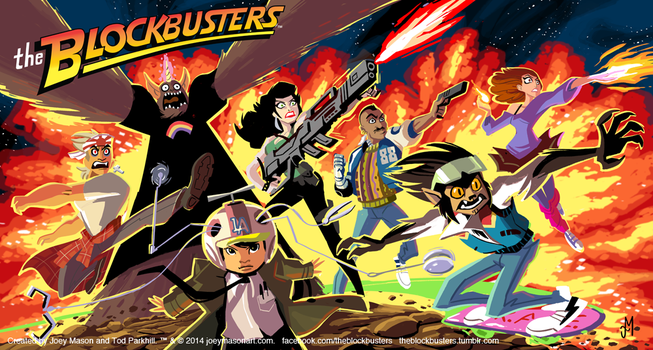 The Blockbusters! Box Art by joeymasonart