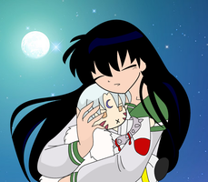 Kagome and Sesshomaru by sakura31