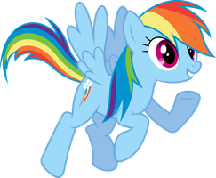 Enthusiastic Rainbow Dash by dasprid
