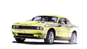 Dodge Challenger PRINT VERSION by Sooly