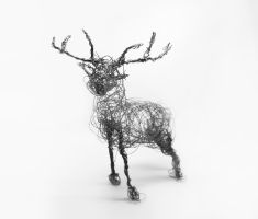 wire deer by sackofsquan