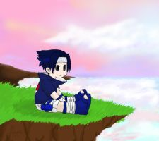request - lonely is sasuke by bommie