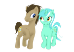 Dr.Whooves X Lyra by Vexor-The-Unchosen