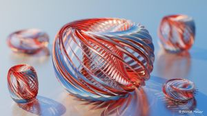 Ring twisted transform to sculpture V2 mat v7a by Bernd-Haier